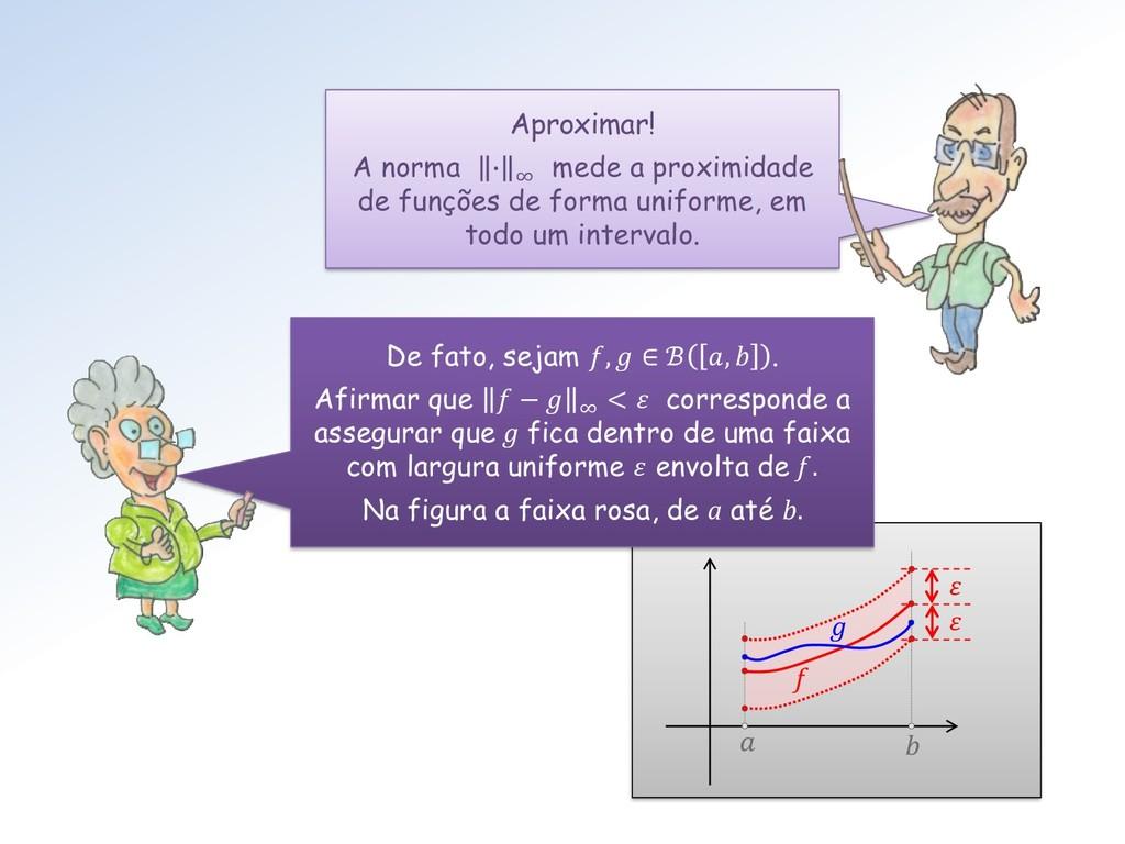 f    Aproximar! A norma ∙ ∞ mede a proximidad...