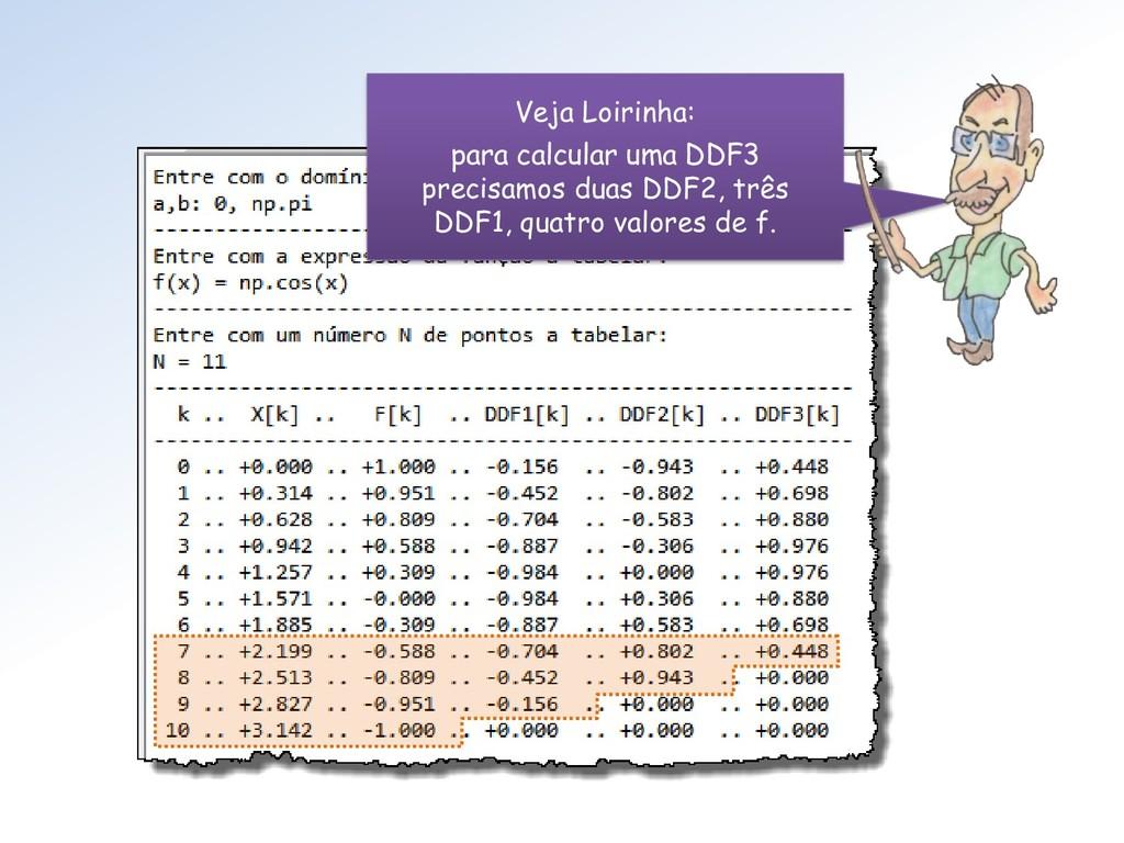 Veja Loirinha: para calcular uma DDF3 precisamo...