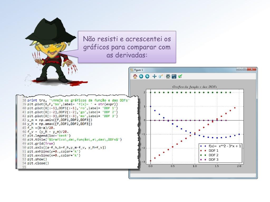 Não resisti e acrescentei os gráficos para comp...