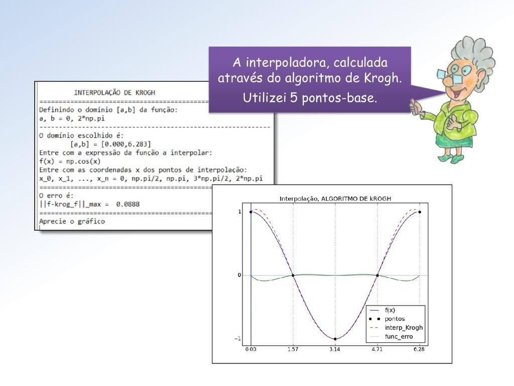 A interpoladora, calculada através do algoritmo...