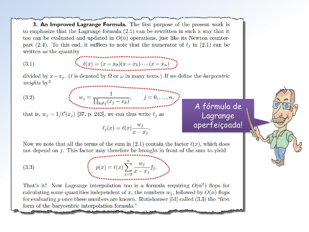 A fórmula de Lagrange aperfeiçoada!