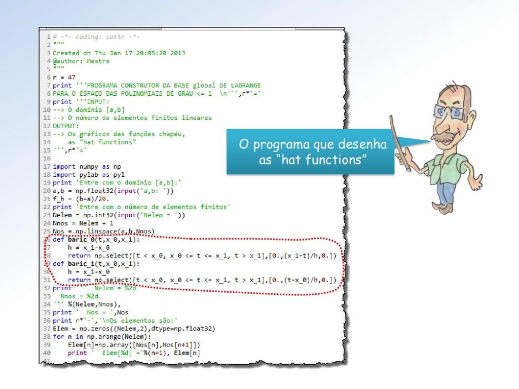 """O programa que desenha as """"hat functions"""""""