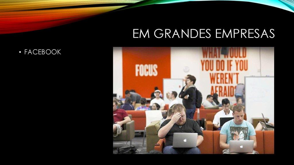 EM GRANDES EMPRESAS • FACEBOOK