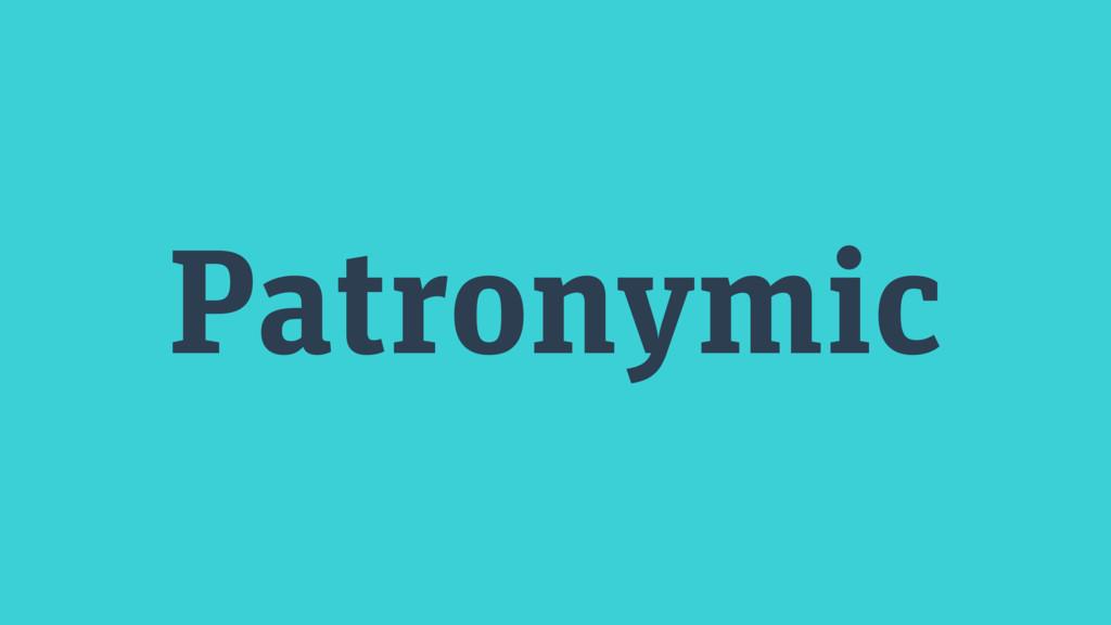 Patronymic
