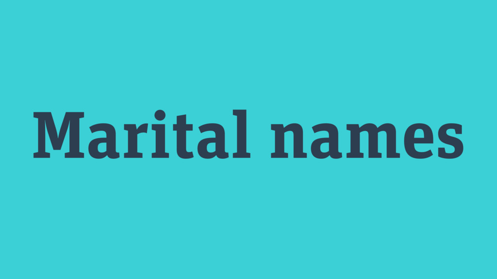 Marital names