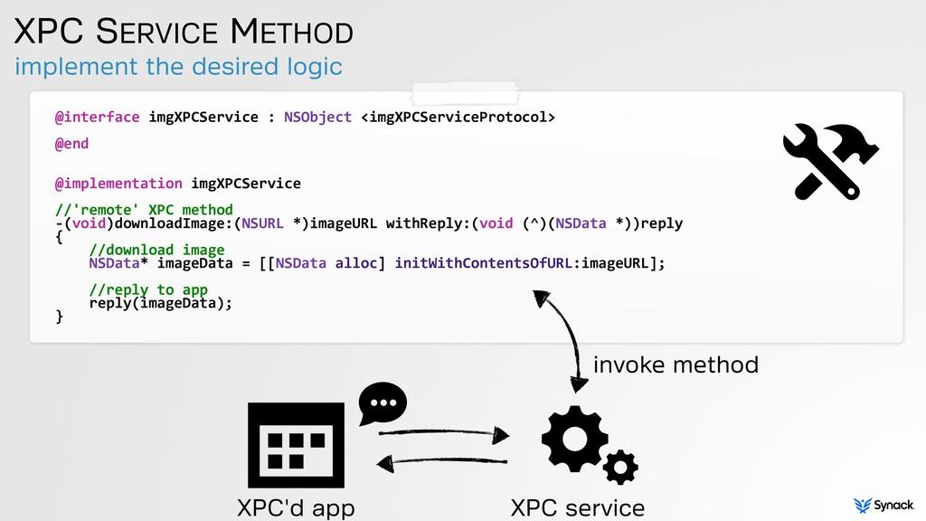 @interface imgXPCService : NSObject ...