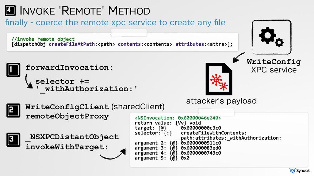finally - coerce the remote xpc service to creat...
