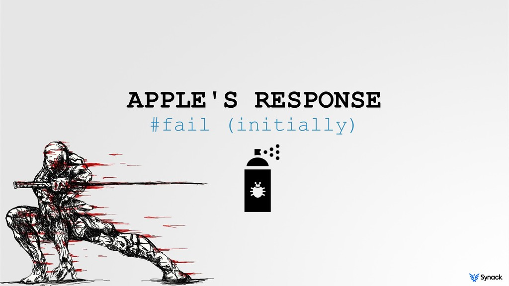 APPLE'S RESPONSE #fail (initially)