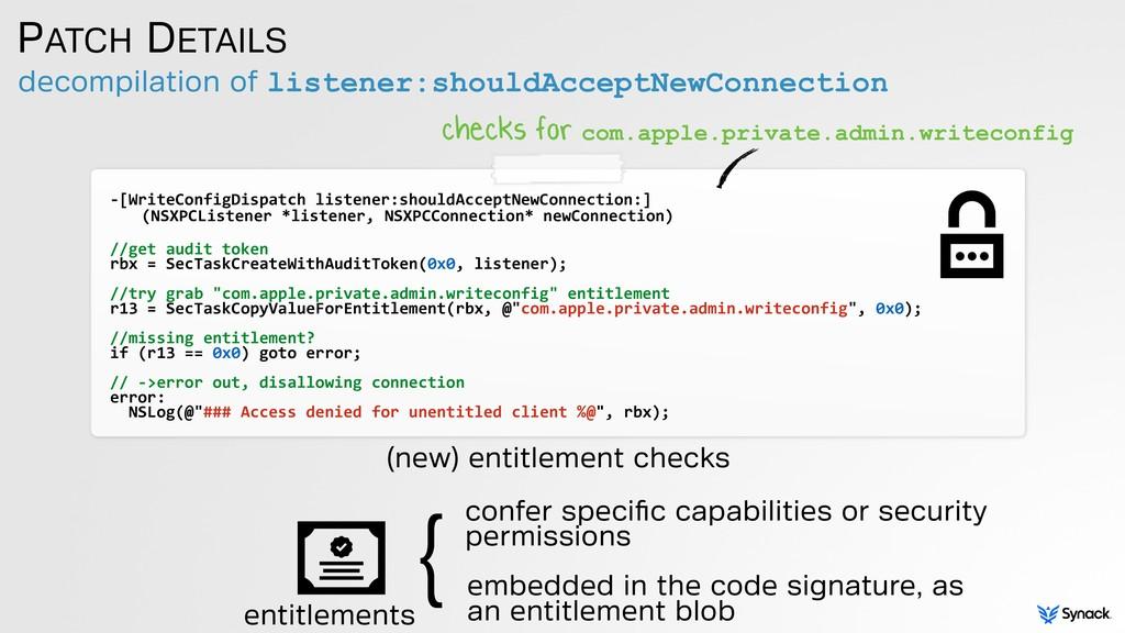 decompilation of listener:shouldAcceptNewConnec...