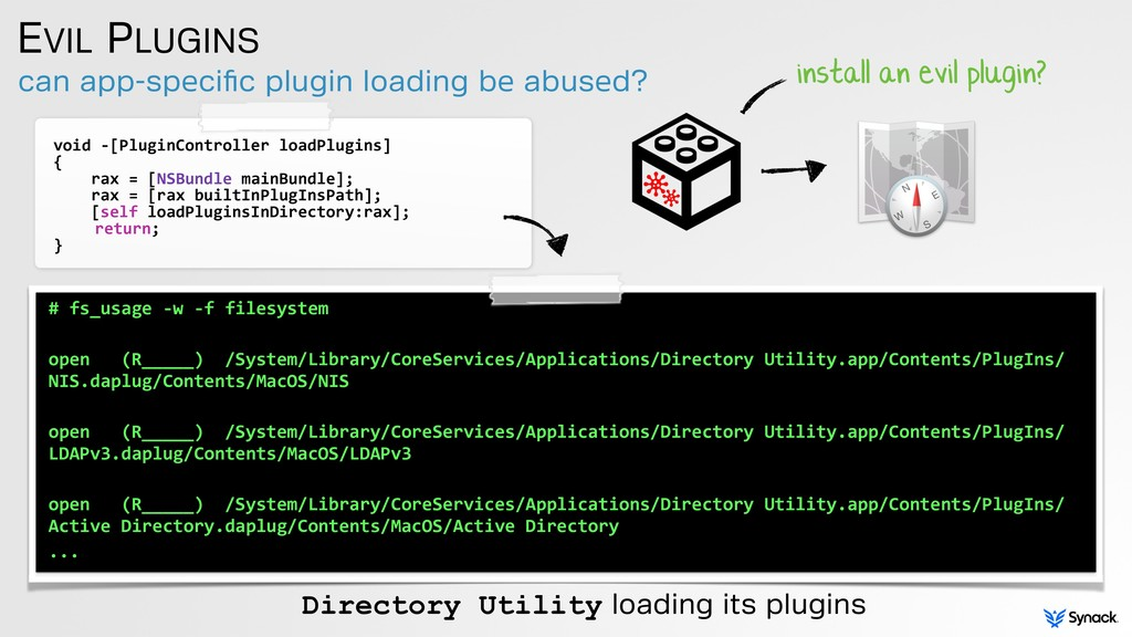 can app-specific plugin loading be abused? EVIL ...