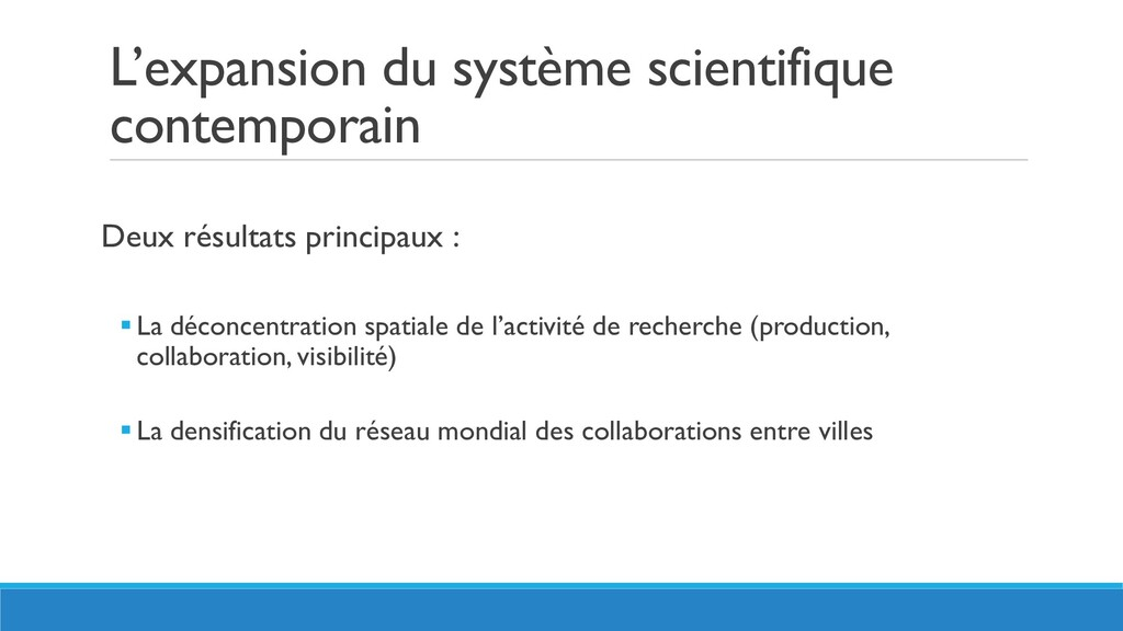 L'expansion du système scientifique contemporai...