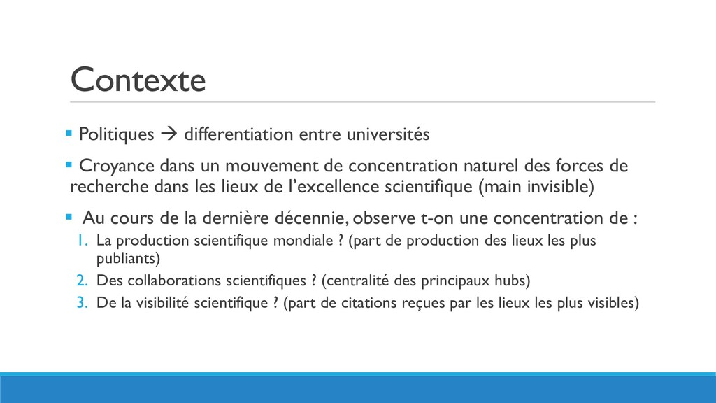 Contexte  Politiques  differentiation entre u...
