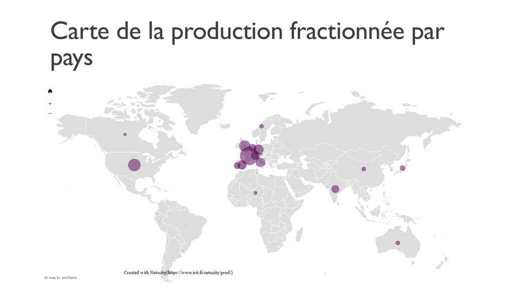 Carte de la production fractionnée par pays