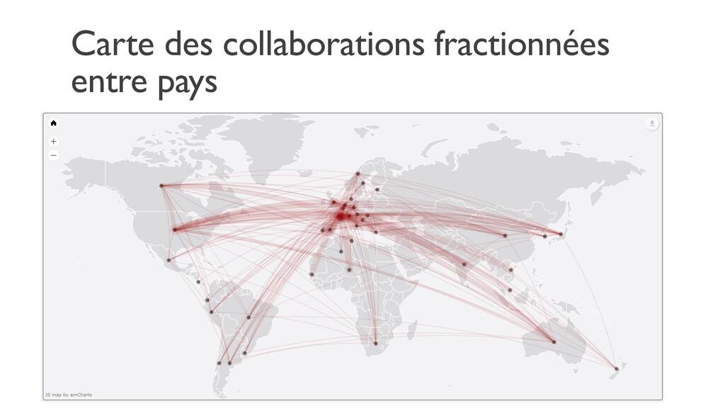 Carte des collaborations fractionnées entre pays