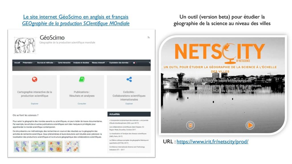 Le site internet GéoScimo en anglais et françai...