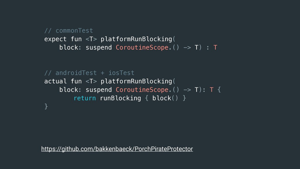 // commonTest expect fun <T> platformRunBlockin...