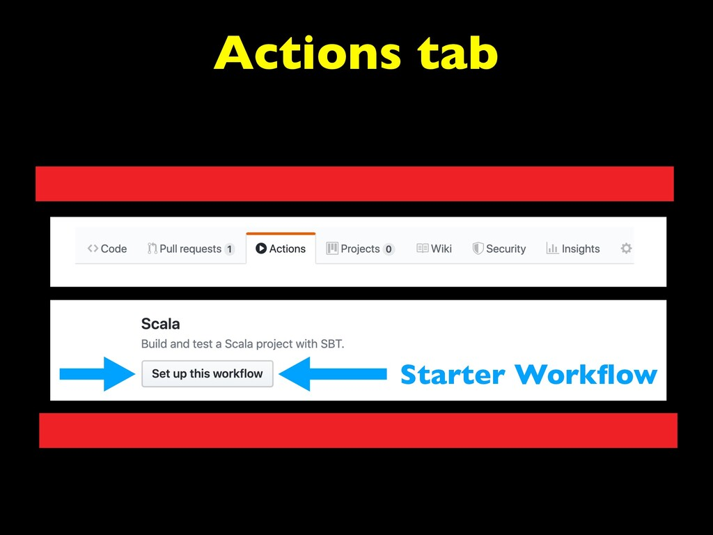 Actions tab Starter Workflow