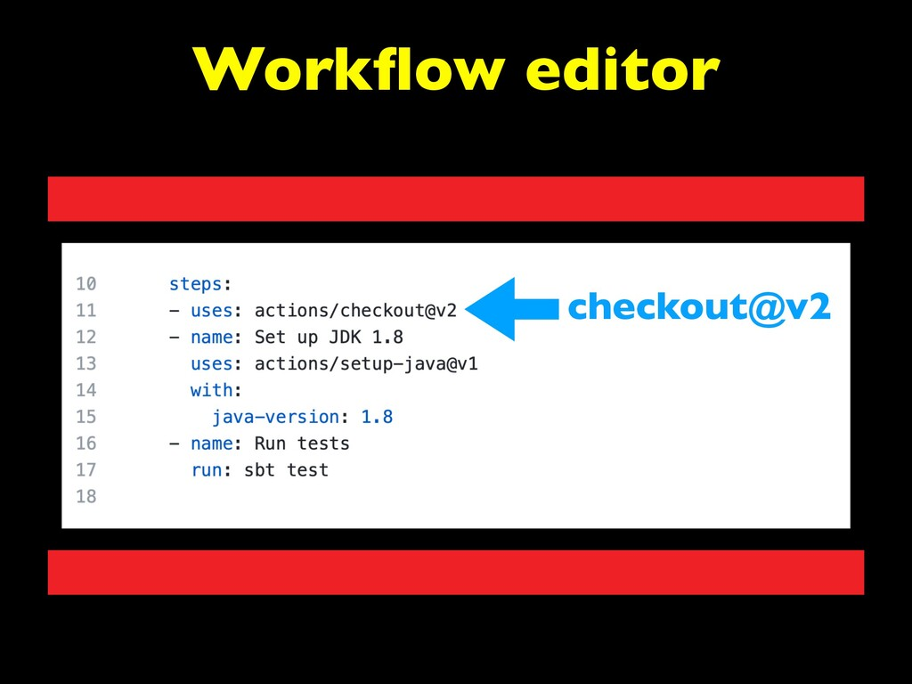 Workflow editor checkout@v2
