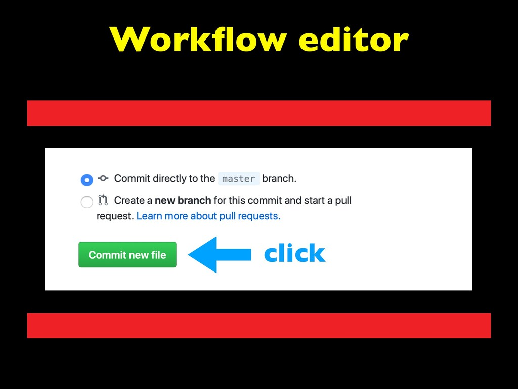 Workflow editor click