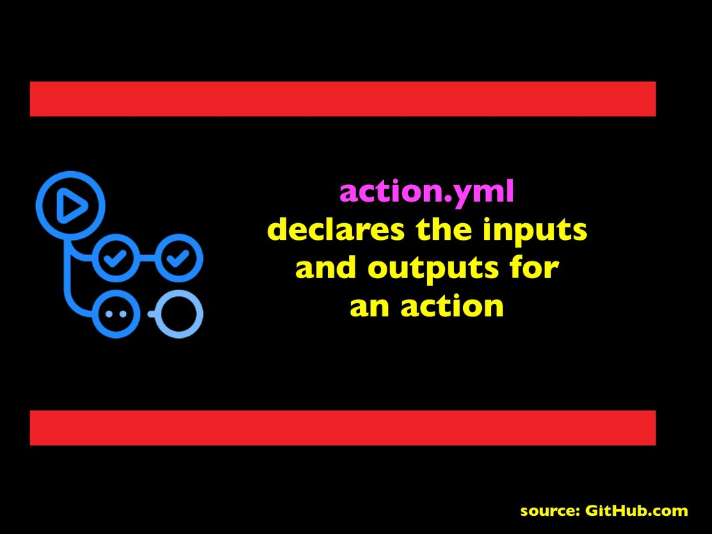 action.yml declares the inputs and outputs for ...
