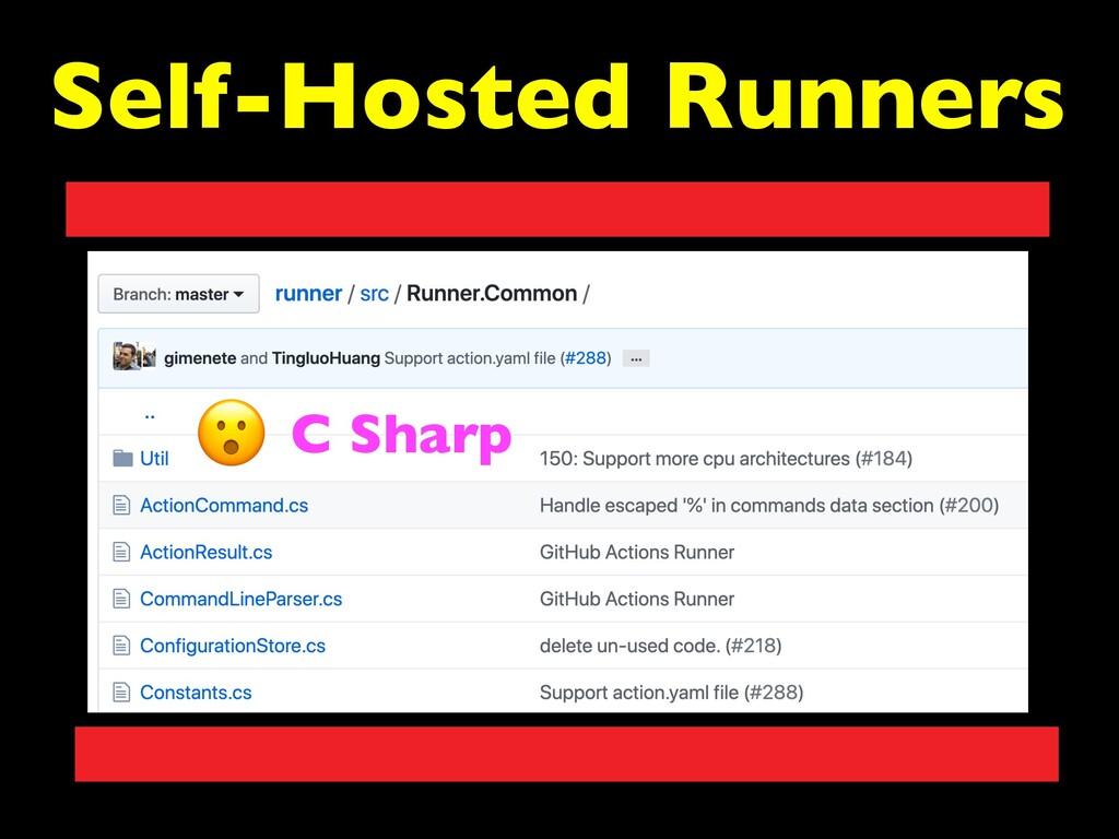 Self-Hosted Runners C Sharp
