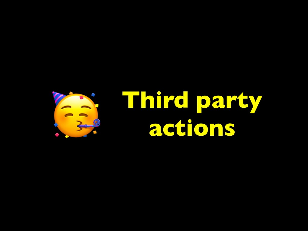 Third party actions