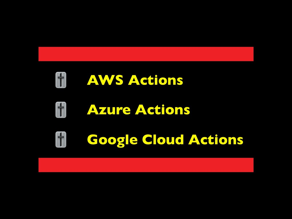 AWS Actions Azure Actions Google Cloud Actions
