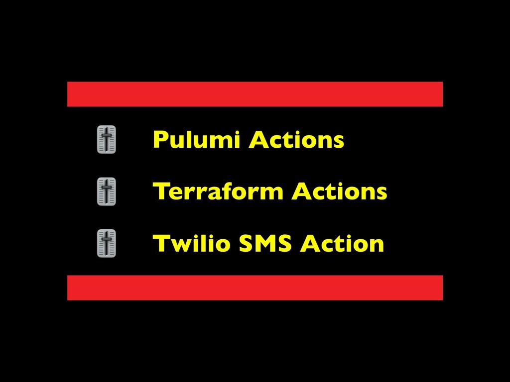 Pulumi Actions Terraform Actions Twilio SMS Act...