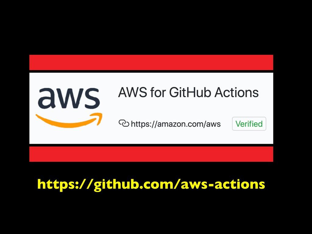 https://github.com/aws-actions