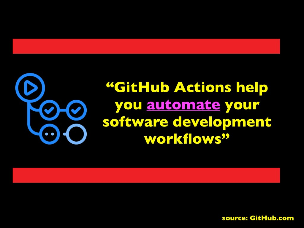 """GitHub Actions help you automate your software..."
