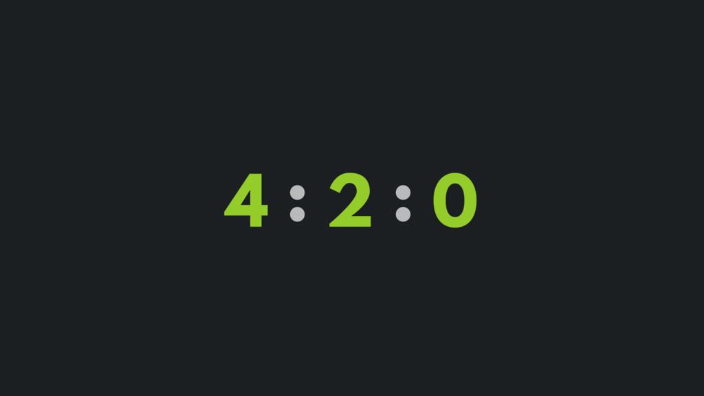 4 : 2 : 0