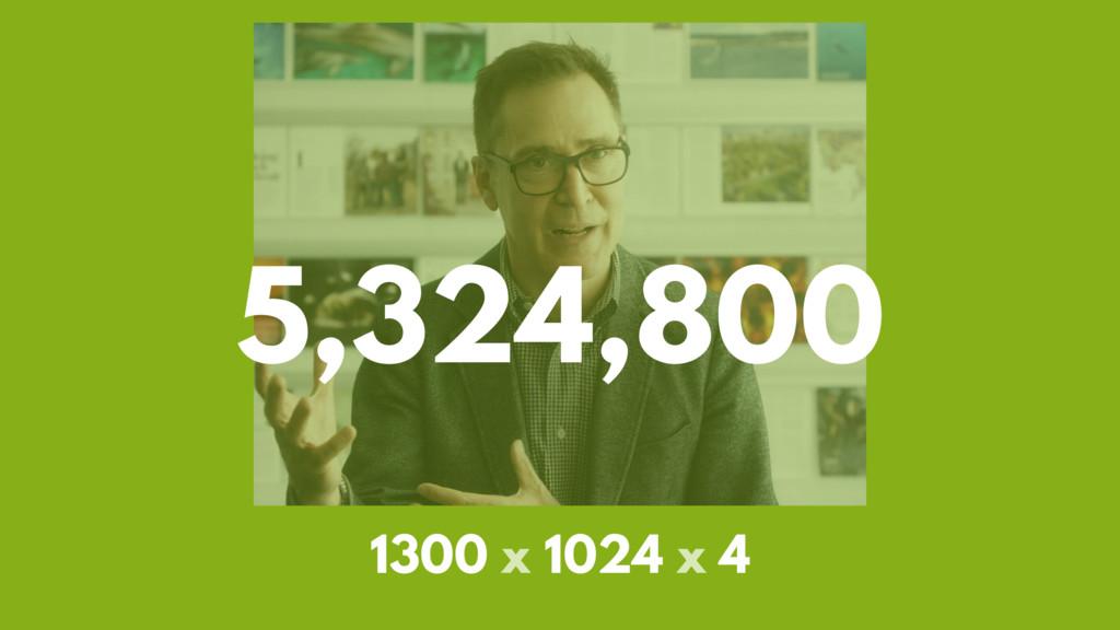 5,324,800 1300 x 1024 x 4