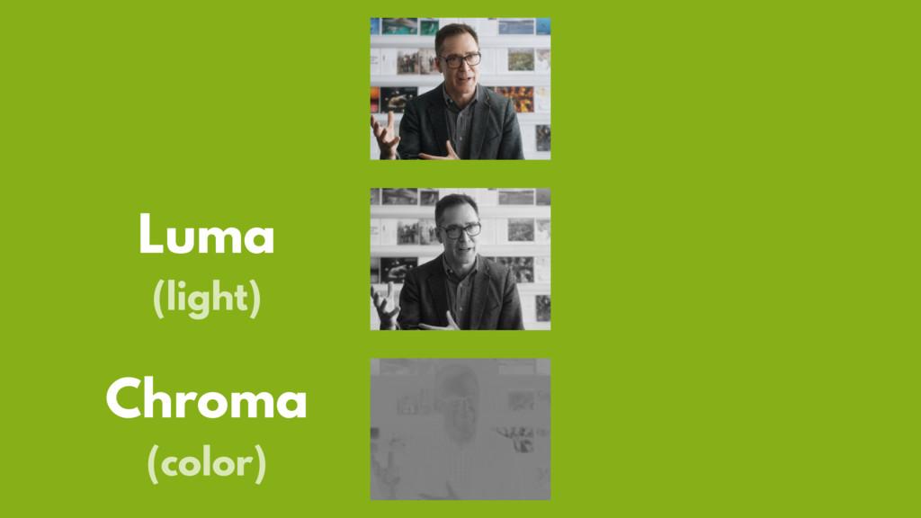 Luma (light) Chroma (color)