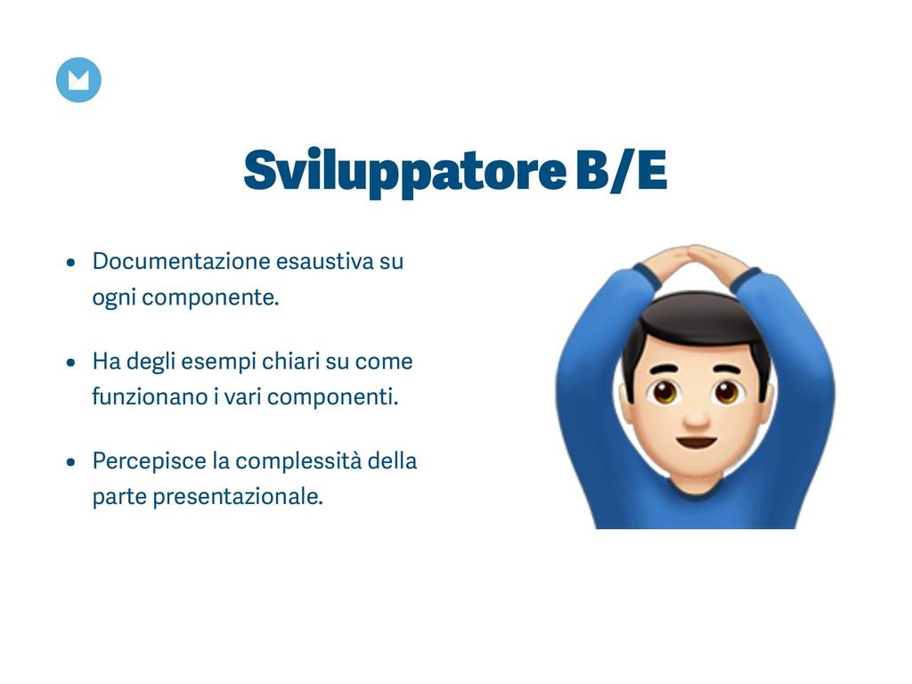 Sviluppatore B/E • Documentazione esaustiva su ...