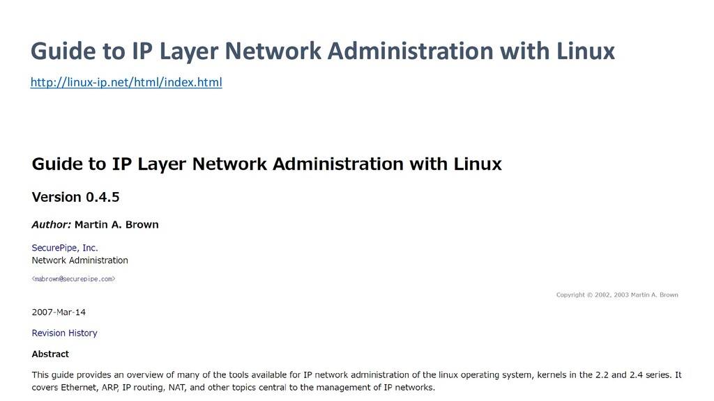 Guide to IP Layer Network Administration with L...