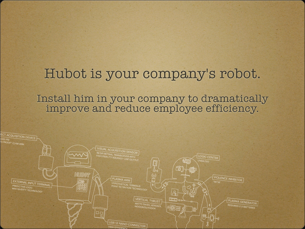 Hubot is your company's robot. Install him in y...