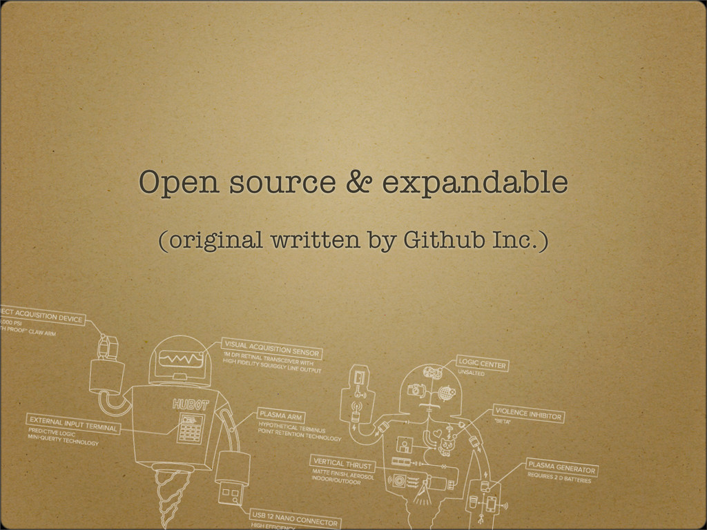 Open source & expandable (original written by G...