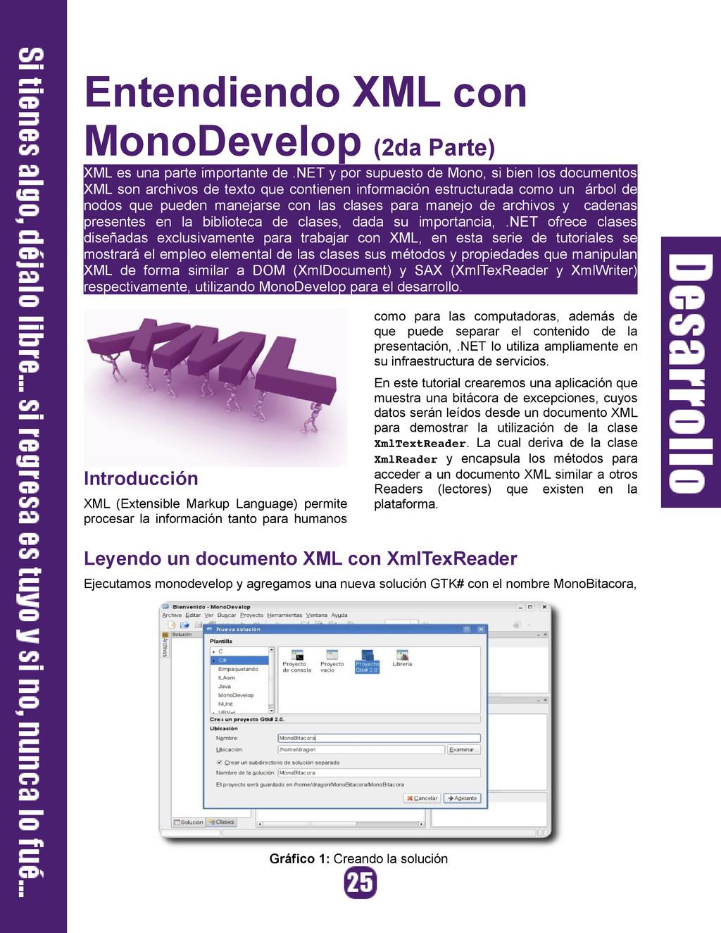 Entendiendo XML con MonoDevelop (2da Parte) XML...
