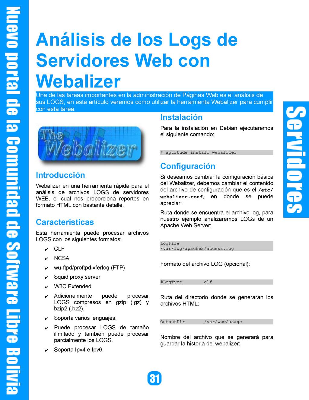 Análisis de los Logs de Servidores Web con Weba...