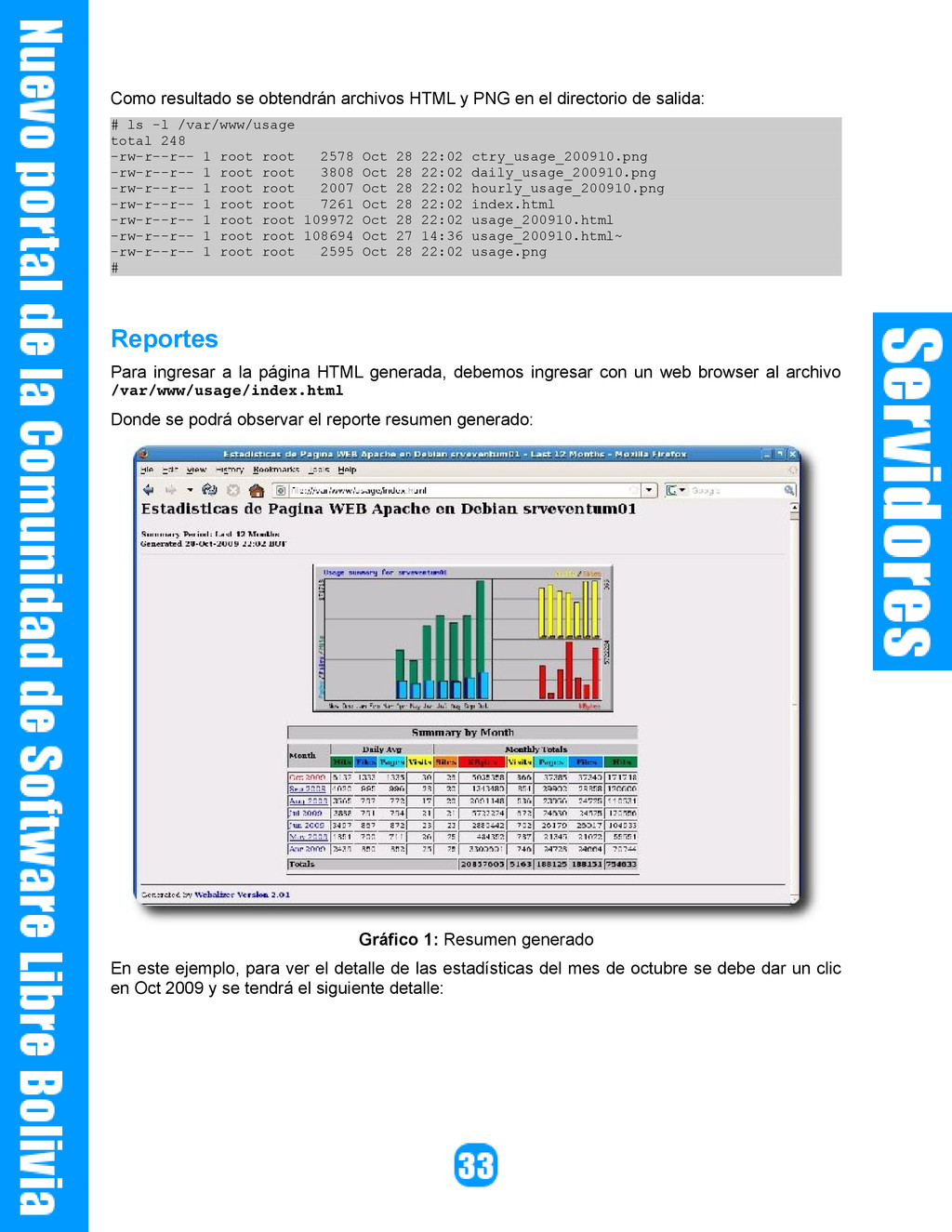 Como resultado se obtendrán archivos HTML y PNG...