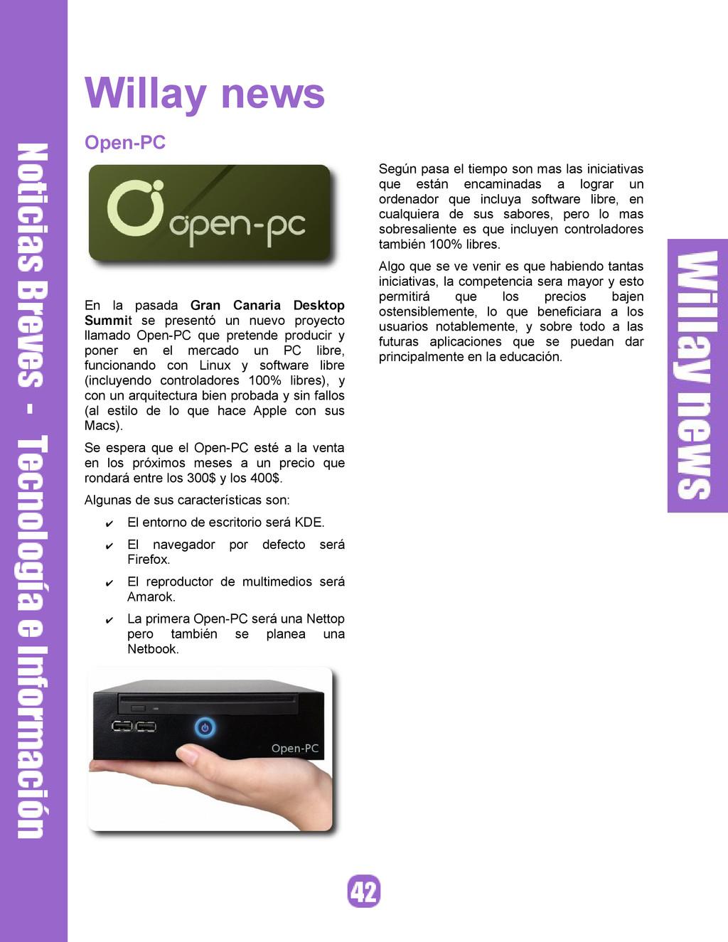 Willay news Open-PC En la pasada Gran Canaria D...