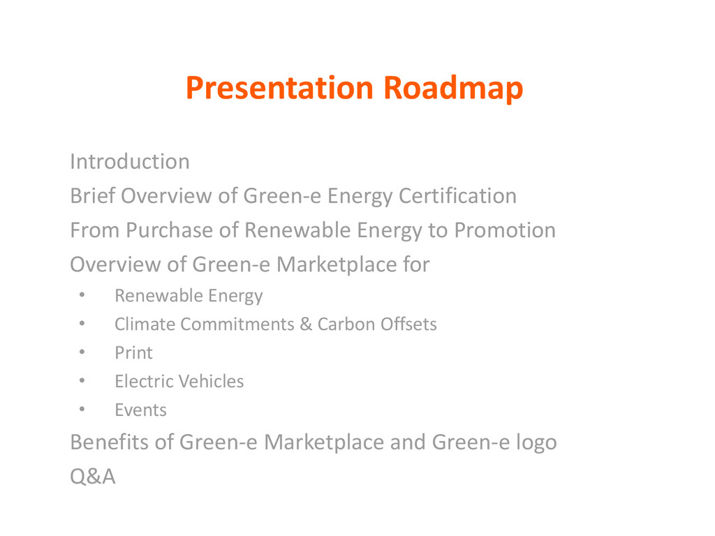 Presentation Roadmap Introduction Brief Overvie...