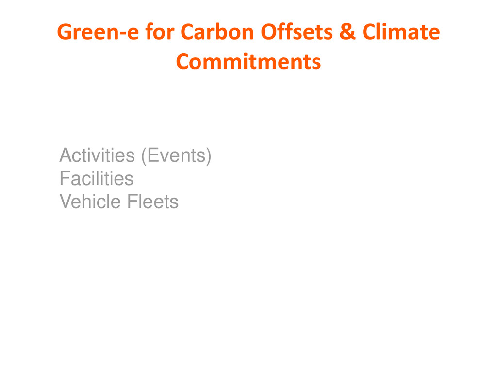 Green-e for Carbon Offsets & Climate Commitment...