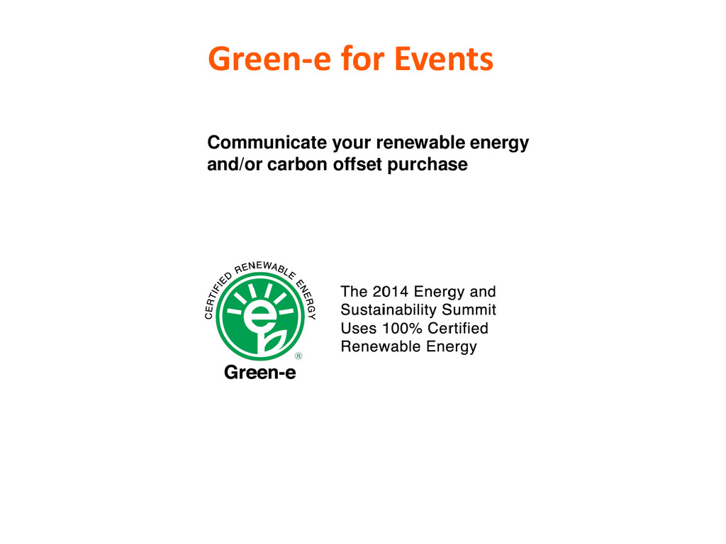 Green-e for Events Communicate your renewable e...