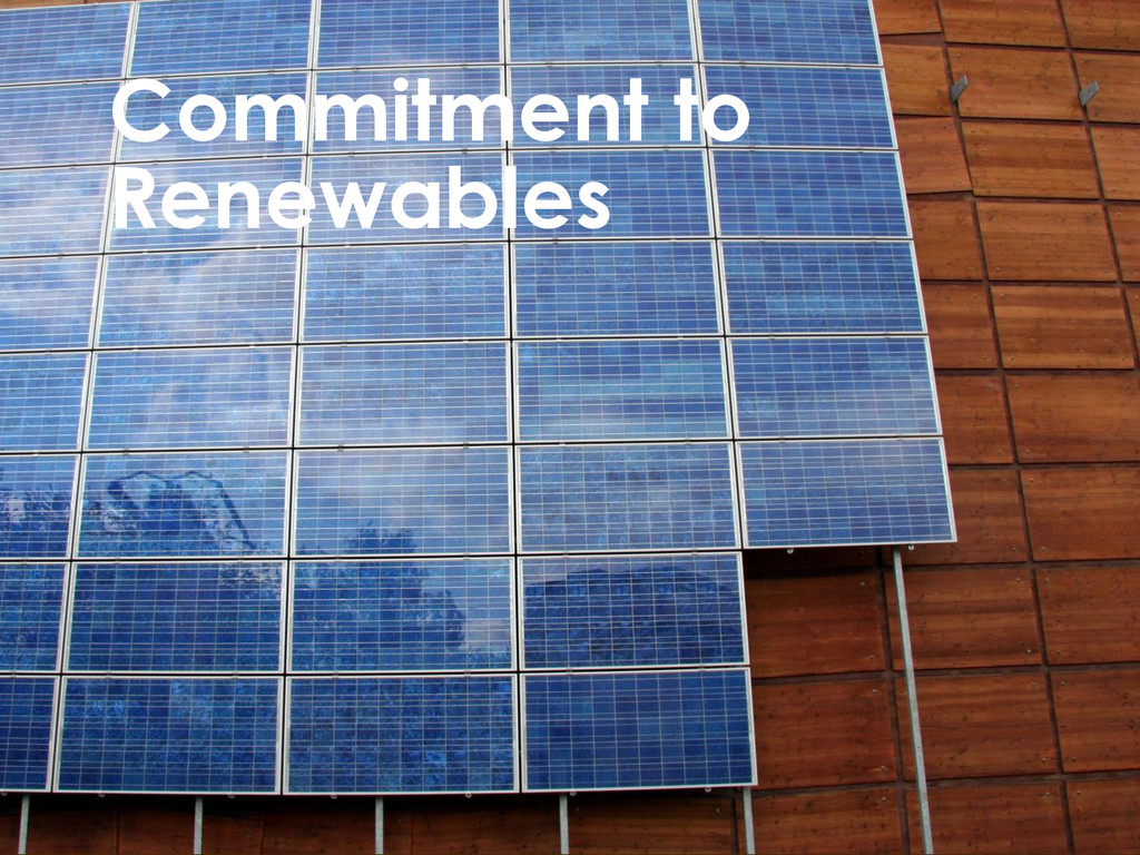 Commitment to Renewables