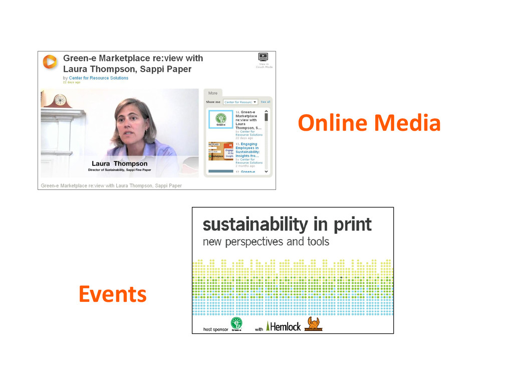Online Media Events