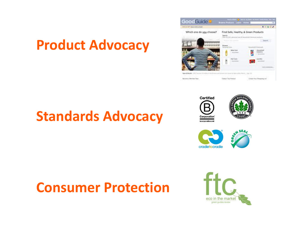 Product Advocacy Standards Advocacy Consumer Pr...