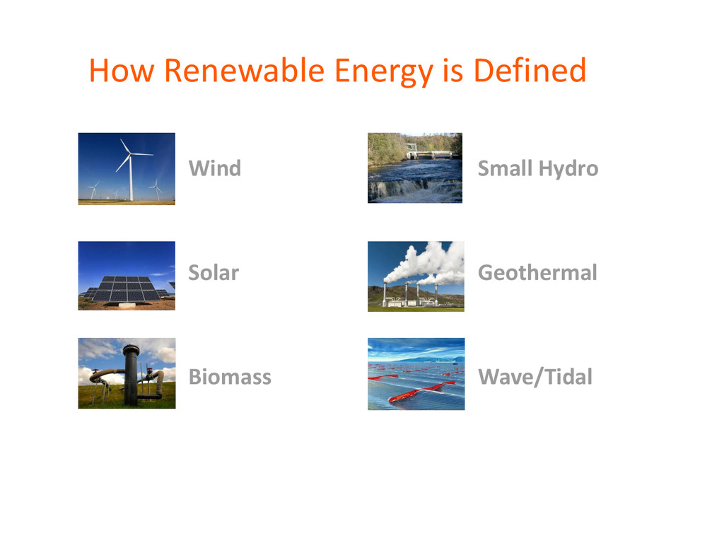 How Renewable Energy is Defined Wind Small Hydr...