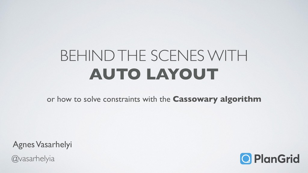 BEHIND THE SCENES WITH AUTO LAYOUT or how to so...