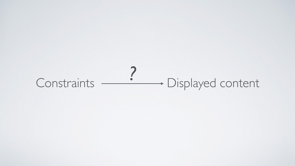 Constraints Displayed content ?